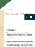 Análisis organoléptico de leche y derivados