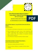 Curso de Árbitro Regional y Torneo Abierto