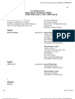 STATE OF ALABAMA et al v. BP, PLC et al Docket