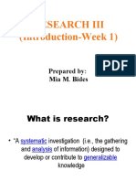 Research-III-IntroWeek-1