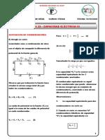 QUINTO - FÍSICA - SESIÓN 29  - CAPACIDAD ELÉCTRICA II ASOCIACIÓN DE CAPACITORES   - 14 - 10 - 2020