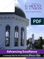 Advancing Excellence - A Stategic Plan for the University of Mount Union
