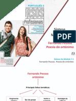 Síntese_ Fernando Pessoa - Poesia do ortónimo