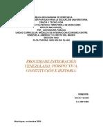 PROCESO DE INTEGRACION VENEZOLANO