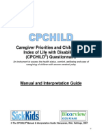 Child Health Index of Life with Disabilities