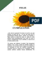 LITURGIA CUMPLEAÑOS