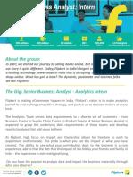 Flipkart Senior Business Analyst Analytics JD (1)