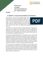 LUIS F. ENSAYO- ENPIRISMO Y EDUCACIÓN