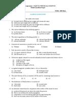 B.Ed. Physical sciences model QP