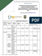 Agenda - DIPLOMADO DE PROFUNDIZACIÓN EN LINUX (OPCIÓN DE TRABAJO DE GRADO) - 2020 I PERIODO 16-01 (761)