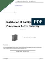 Installation et configuration d'un serveur Active Directory