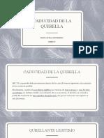 CADUCIDAD DE LA QUERELLA.pptx
