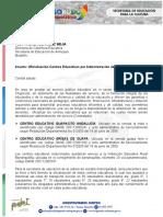 OFICIALIZACION DE CENTROS EDUCATIVOS POR ADMINISTRACION DEL SERVICIO