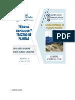 TEMA N° 04 DISTRIBUCION Y TRAZADO DE PLANTAS