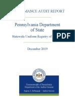 Pennsylvania Audit Report