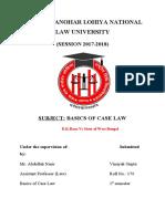 Basics of Case Law Project - Santosh Mishra