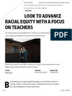 Schools Look to Advance Racial Equity With a Focus on Teachers - WSJ