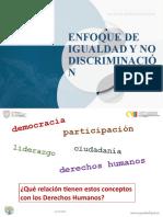 Presentación Enfoque de igualdad y no discriminación