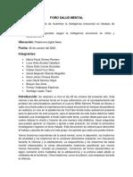 FORO SALUD MENTAL, Grupo N° 2..pdf