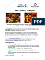 Thanksgiving Guidance