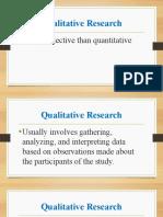 Module 2 Qualitative and Quantitative Research