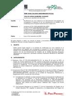 Proyecto de Informe legal sobre sobre proyecto de RM que rectifica por error material la denominación del epígrafe que corresponde al numeral 2.2 de los Lineamientos de Gestión del PSI