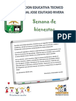 SEMANA DE BIENESTAR INSTITUCIONAL