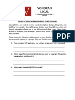 Vondran Legal Copyright Questionnaire for Architectural Works