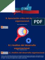 8. Apreciación crítica del desarrollo organizacional.