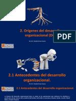 2. Orígenes del desarrollo organizacional (DO).