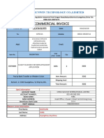 Commercial invoice sunwin