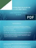 ELEMENTOS PSICOLOGICOS DE LA ENTREVISTA