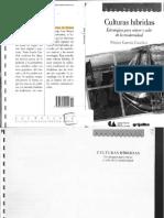 García Canclini, Nestor - Culturas Híbridas (S)