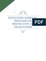 REFLEXION SOBRE EL PRINCIPIO DE PROTECCION AL TRABAJADOR