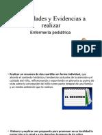 Actividades y evidencias a realizar Enfermeria Pediatrica
