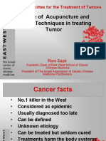 The Use of Acupuncture and Modern Techniques in the treatment of Cancer