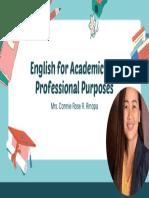 Peach and Blue Illustration English Class Education Presentation