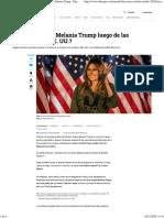 Elecciones en Estados Unidos qué va a pasar con Melania Trump - Elecciones Estados Unidos 2020 - Internacional - ELTIEMPO.COM