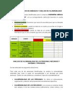IDENTIFICACION DE AMENAZAS Y ANÁLISIS DE VULNERABILIDAD