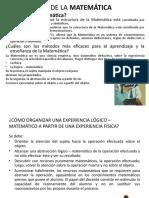 EXPERIENCIAS DIDÁCTICAS DESARROLLADAS EN EL ÁREA DE MATEMÁTICA