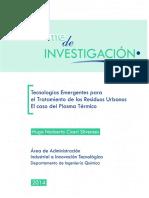 TECNOLOGIAS EMERGENTES PARA EL TRATAMIENTO DE LOS RESIDUOS URBANOS