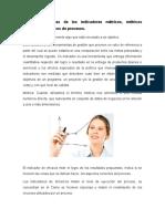 2.2. Características de los indicadores métricos, métricos financieros, métricos de procesos.