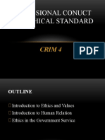CRIM 4 PROFESSIONAL CONDUCT AND ETHICAL STANDARD