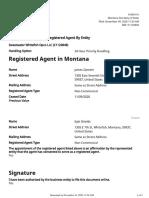 Whitefish Registered Agent Change