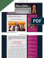 Página Católica_ A propósito del nuevo Pontificado