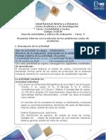 Guía de actividades y rúbrica de evaluación - Unidad 3 - Tarea 3 - Presentar informe con la solución de los problemas costeo de productos.pdf