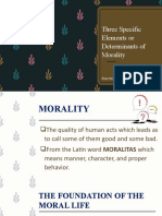 Three Specific Elements or Determinants of Morality [Autosaved]