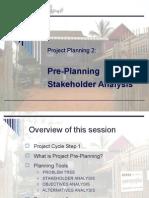 4. PrePlanning & Stakeholder Analysis