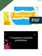 3. Preverbalidad