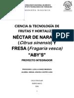 Proyecto Innovador Néctar de Naranja y Fresa. Corregido